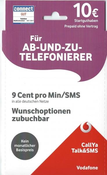 Callya Sim Karte.Vodafone Callya Simkarte Prepaid Tarif Talk Und Sms Inkl 10 Eur Startguthaben